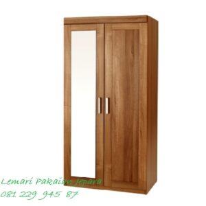 Harga lemari pakaian anak kost murah dari material kayu jati Jepara model desain almari untuk laki-laki dan perempuan minimalis modern