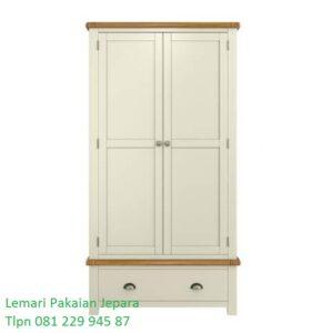 Harga lemari pakaian minimalis 2 pintu modern klasik terbaru model baru di Yogyakarta desain almari baju warna putih laci sliding harga murah