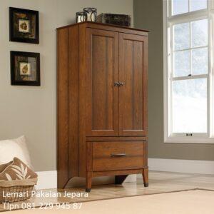 Lemari pakaian anak kayu jati Jepara model desain almari baju karakter 2 pintu warna natural minimalis mewah modern dan klasik harga murah