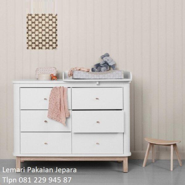 Lemari bayi minimalis lucu model laci desain almari baju laci baby tafel mewah modern dan klasik terbaru unik warna putih harga murah