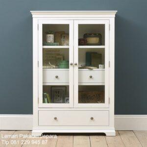 Lemari dapur kecil minimalis mewah modern klasik terbaru sederhana model kitchen set desain terbaru warna putih 2 pintu kaca harga murah